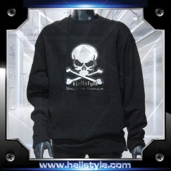 Sweatshirt - White Skull
