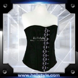 HellStyle Corsage - Canvas and Buckles Black